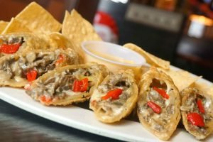 Cheese Steak Spring Rolls