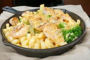 Shrimp Broccoli Mac N Cheese